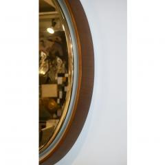 1970s Italian Vintage White Framed Cherry Wood Back Lit Oval Mirror - 1388999