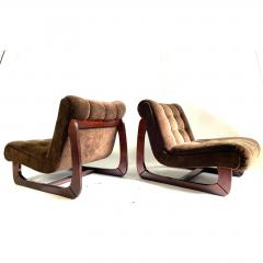 1970s Low Lounge Chairs a Pair - 1703920