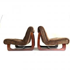 1970s Low Lounge Chairs a Pair - 1703928