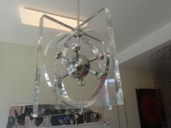 1970s Lucite And Chrome Chandelier - 511517