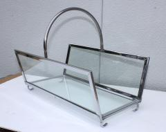 1970s Lucite Chrome Fireplace Tools And Log Holder - 1121190