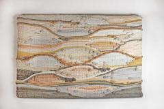 1970s Midcentury California Modernist Fiber Art Wall Textile - 1507039