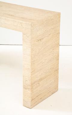 1970s Minimalist Travertine Console - 1315979