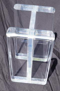 1970s Modern Hollywood Regency Contemporary Lucite Glass Top Coffee Table - 1796777