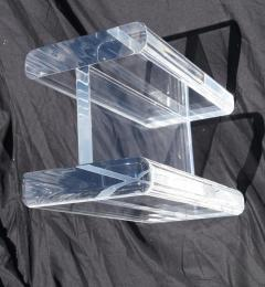 1970s Modern Hollywood Regency Contemporary Lucite Glass Top Coffee Table - 1796778