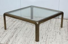 1970s Modern Patinated Brass Coffee Table From Spain - 1259602