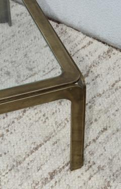 1970s Modern Patinated Brass Coffee Table From Spain - 1259604