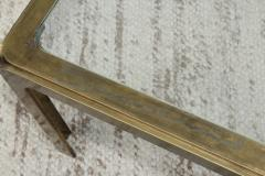 1970s Modern Patinated Brass Coffee Table From Spain - 1259608