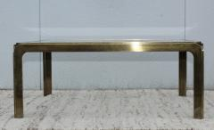 1970s Modern Patinated Brass Coffee Table From Spain - 1259609