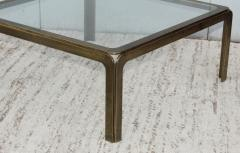 1970s Modern Patinated Brass Coffee Table From Spain - 1259611