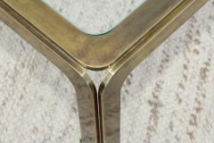 1970s Modern Patinated Brass Coffee Table From Spain - 1259612