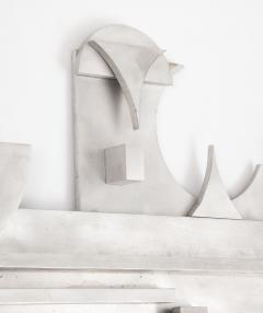 1970s Modernist Abstract Aluminum Wall Sculpture - 1515504