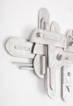 1970s Modernist Abstract Aluminum Wall Sculpture - 1515505