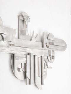 1970s Modernist Abstract Aluminum Wall Sculpture - 1515506