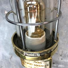1970s Norwegian Industrial Cast Brass TEF Wall Light with Glass Shade Cage - 1116216