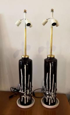 1970s Pair of Stunning Italian Ceramic Lamps Base - 106843