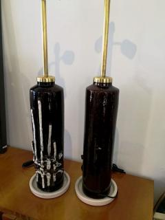 1970s Pair of Stunning Italian Ceramic Lamps Base - 106844