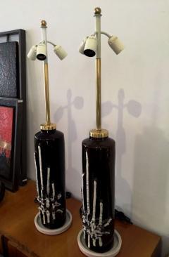 1970s Pair of Stunning Italian Ceramic Lamps Base - 106845