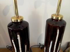 1970s Pair of Stunning Italian Ceramic Lamps Base - 106847