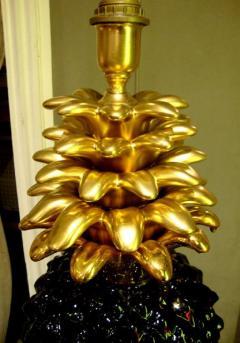 1970s Pineapple lamp base in ceramic - 913455