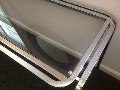 1970s Polished Chrome Glass Sofa Table - 79994