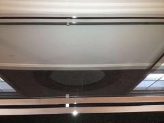 1970s Polished Chrome Glass Sofa Table - 79995