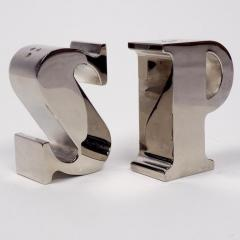 1970s Table Salt and Pepper Shakers Silver - 1308342