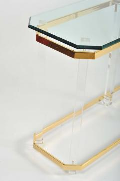 1970s US lucite and brass console table - 747526