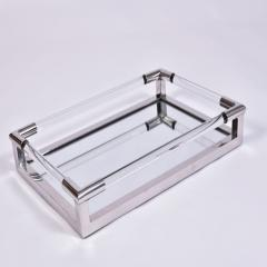 1970s US rectangular Lucite and mirror tray - 1469824