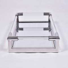 1970s US rectangular Lucite and mirror tray - 1469826