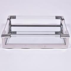 1970s US rectangular Lucite and mirror tray - 1469827