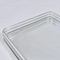 1970s US rectangular Lucite and mirror tray - 1469881