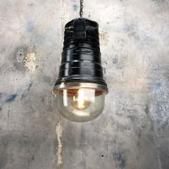 1970s Vintage Industrial Black Explosion Proof Ceiling Pendant by EOW - 1166627