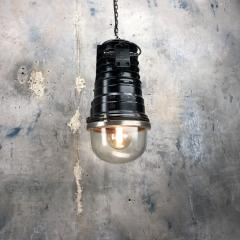 1970s Vintage Industrial Black Explosion Proof Ceiling Pendant by EOW - 1166636