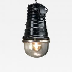 1970s Vintage Industrial Black Explosion Proof Ceiling Pendant by EOW - 1167720