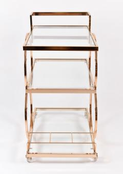 1970s gold American decorative drinks trolley - 1081168