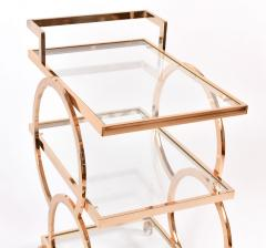 1970s gold American decorative drinks trolley - 1081172