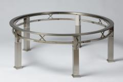 1970s round coffee table in chrome and glass - 1439186