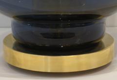 1980 Italian Monumental Blue Smoked Gray Murano Glass Modern Lamp Floor Lamp - 1056206