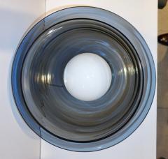 1980 Italian Monumental Blue Smoked Gray Murano Glass Modern Lamp Floor Lamp - 1056207