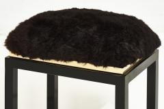 1980 s Black Brass Fur Stool - 1911031