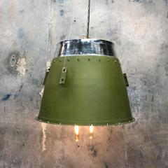 1980s Canadian Bombardier Jet Engine Cowling Green Industrial Pendant Light - 1140103