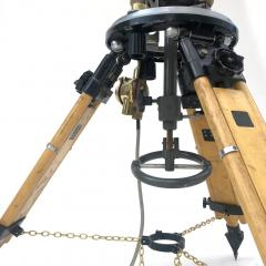 1980s Francis British Brass Searchlight Tripod Lamp - 1122675