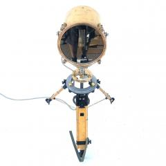 1980s Francis British Brass Searchlight Tripod Lamp - 1122683