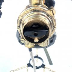 1980s Francis British Brass Searchlight Tripod Lamp - 1122684