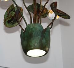 1980s Garland Faulkner Bronze And Copper Chandelier - 1806137