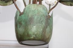 1980s Garland Faulkner Bronze And Copper Chandelier - 1806142