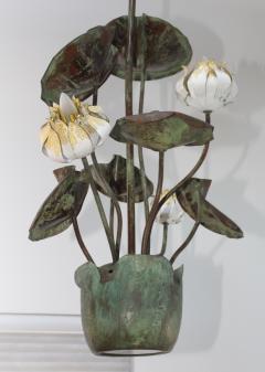 1980s Garland Faulkner Bronze And Copper Chandelier - 1806143