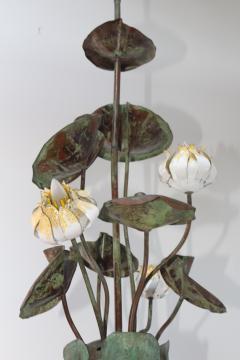 1980s Garland Faulkner Bronze And Copper Chandelier - 1806144