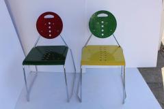 1980s Memphis Style Italian Charlie Chairs by Bimbi Gioacchini Design - 687021